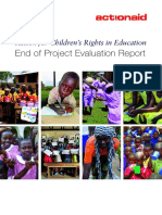 Action for Children in Education -End of Project Evaluation Report August 2013