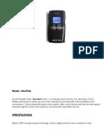 Alcohol Breath Analyser,AlcoTest