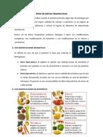 Tipos de Dietas Terapeuticas