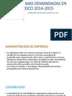 CARRERAS MAS DEMANDADAS EN MEXICO 2014-2015.pptx