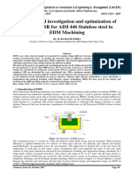 Experimental investigation and optimization of MRR and SR for AISI 446 Stainless steel in EDM Machining