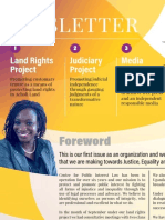 Centre for Public Interest Law (CEPIL) Newsletter