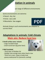 Adaptation in Animals AQA B1 GCSE