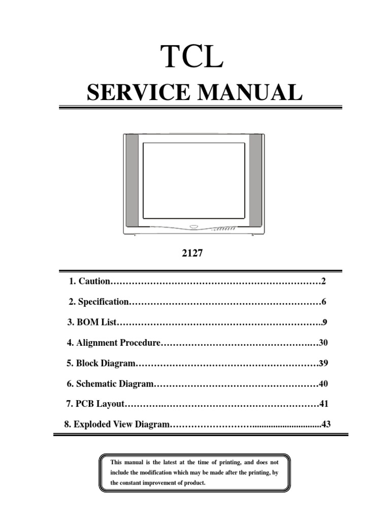 tcl service manual rh es scribd com tcl tv instruction book tcl television user manual