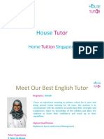 English Tution - House Tutor