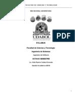 UDABOL  Syllabus Ingeniería de Software 1