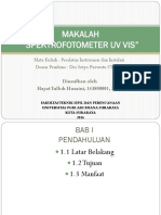 Spektro UV VIS Hayat TL 14' 143800001