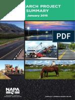 NAPA Research Brochure 2015
