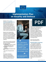 Implementation Plan on Security and Defence 18-10-2017