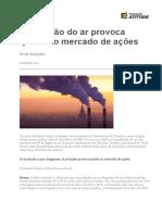 HARVARD ARTIGO - A Poluição Do Ar Provoca Queda No Mercado de Ações