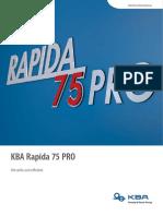 KBA Rapida 75Pro Broschuere En
