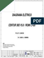 DIAGRAMA ELÉTRICO CENTUR 30D V5.0 / ROMI C 420