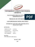 Informe de Campo Costos Pecuarios