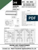 Service Manual RAS1014SH4_EN
