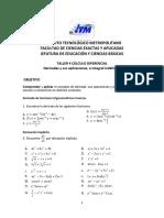 Taller 4 Cálculo Dif-Derivadas y Antiderivadas