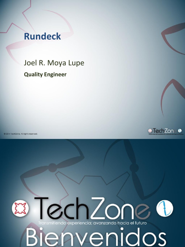 Techzone 2014 Presentation Rundeck | User (Computing