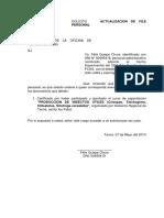 Solicitoactualizacion de File Personal