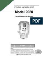 Man_2020 Explosion Proof Thermal Conductivity Analyzer