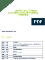 Communication, HR & Marketing Planning - EnG