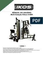 Estação de Musculação Kikos 518 BK + Kit Pilates - Produto de Showroom