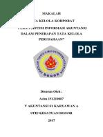 Peran Sistem Informasi Akuntansi Dalam Pelaksanaan Gcg