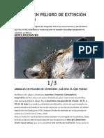 Especies en Peligro de Extinción en México