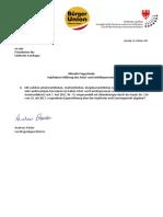 Impf-Eigenerklärung Schulpersonal und Sanitätspersonal - Landtagsanfrage A. Pöder und Antwort LR Stocker