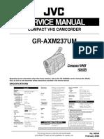 JVC Gr-Axm237 Service Manual, Repair Schematics, Online Download