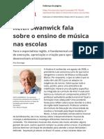 Keith Swanwick Fala Sobre o Ensino de Musica Nas Escolas