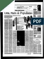 URSS, Marx e Populismo