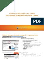 Windows Marketplace for Mobile Developer Registration Walk Through