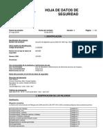 MSDS Reactivo DQO Alto Rango