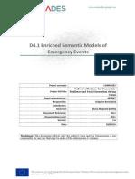 D4.1 Enriched Semantic Models of Emergency Events