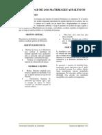 Informe de Ductibilidad Penetracion y Punto de Ablandamiento en Asfaltos