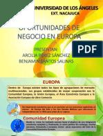 Oportunidades de Negocios en Europa