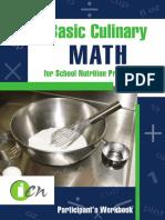Basic Culinary Math Participant Manual