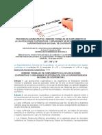 Providencia Administrativa Deberes Formales de Cumplimiento de Las Asociaciones Cooperativas y Organismos de Integración Con La Superintendencia Nacional de Cooperativas.