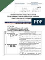 02.B. Anexa B La Calendarul Olimpiadelor Nationale Scolare - PREVEDERI METODOLOGICE - OnSS Si Regulamente OG - 2016-2017