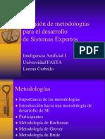 Metodologías para el desarrollo de Sistemas Expertos