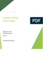 Acetabular Labral Tears - Current Treatments-upload