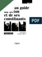 Nouveau Guide Du Béton Et de Ses Constituants