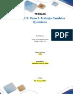 Formato Entrega Trabajo Colaborativo – Unidad 3 Fase 5 Trabajo Cambios Químicos_RT-1