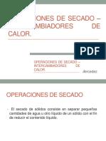 Operaciones de Secado – Intercambiadores de Calor