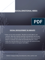 infants social emotional needs