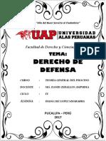 Monofrafía Uap - Diana - Derecho de Defensa
