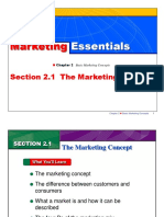 Marketing Essentials - Chapter 2 Basic Marketing Concepts