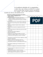 Lista de Verificación de Auditoría Alrededor de La Computadora.doc