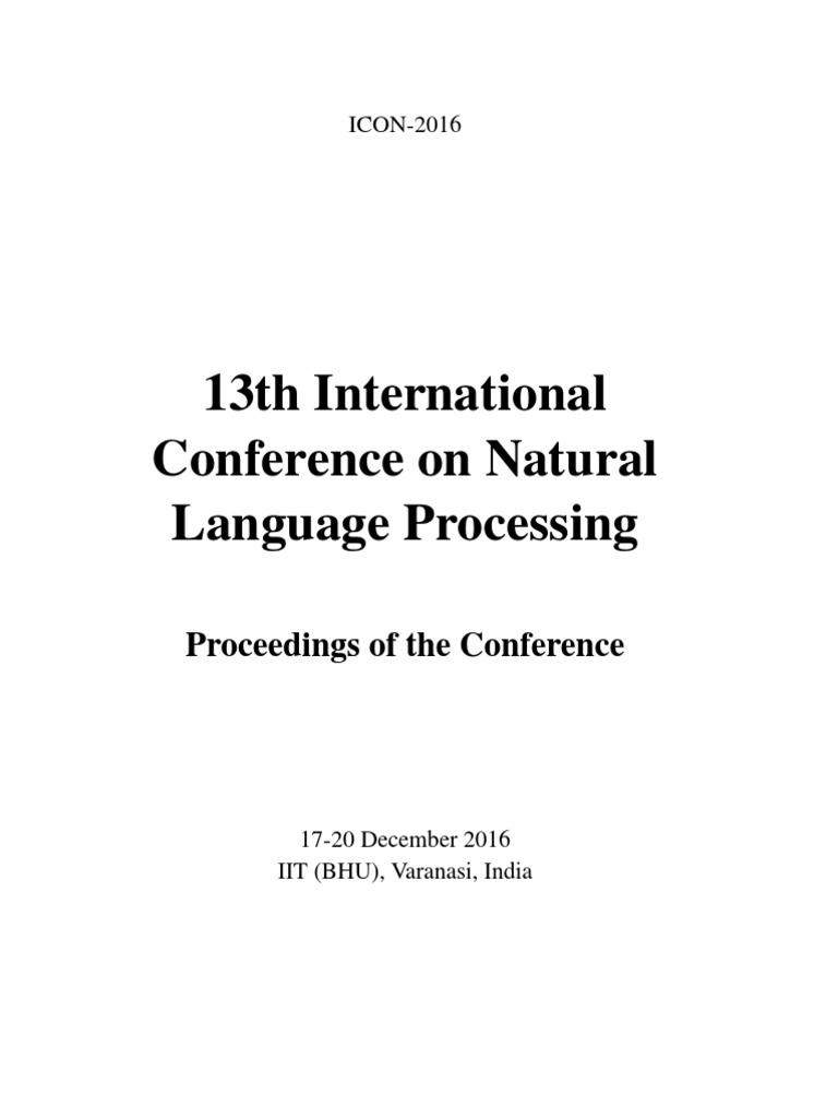 Conferencia Sobre Procesamiento Natural Del Lenguaje   Linguistics