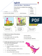 Dinosaur Who Lost His Roar Worksheet