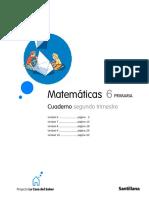 6º Primaria Solucionario Cuaderno 2º Trimestre Matemáticas La casa del Saber 2009.pdf